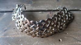 "Vintage Gold Tone MONET Link Bracelet 7"" x 3cm - $19.79"