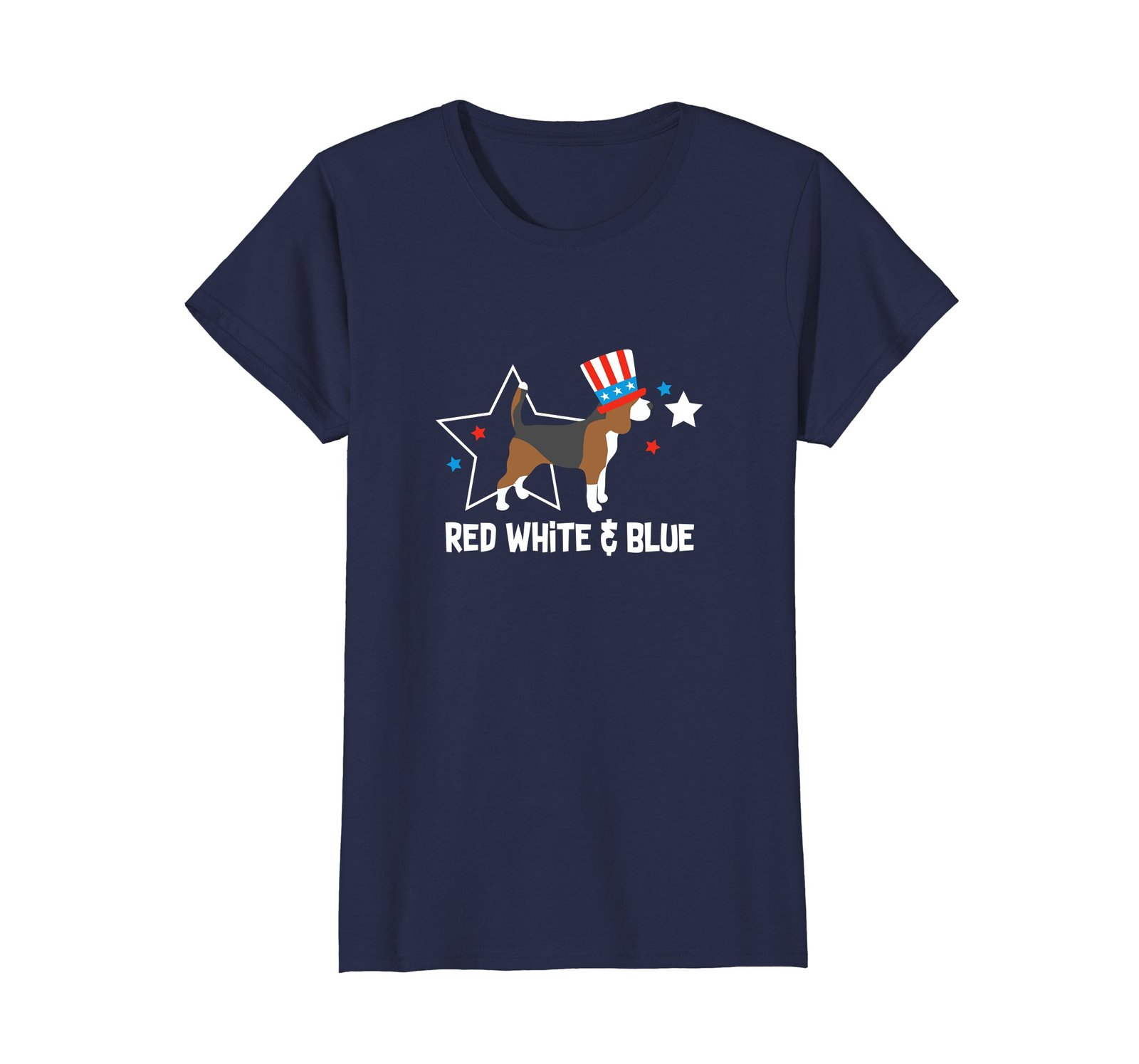 4th of July Shirt Beagle Red White  Blue Gift