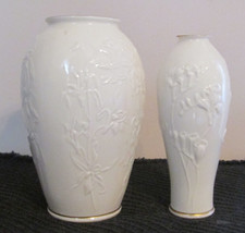 LENOX PORCELAIN  & GLASS VASES + SET OF UNMARKED LOOK ALIKES  (3 CHOICES) - $28.84