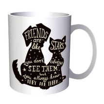 Cat And Dog Friends New Positive Good Inspire 11oz Mug d160 - $10.83