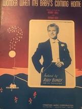 Wonder When My Baby's Coming Home Vintage Sheet Music Kermit Goell Arthu... - $7.70