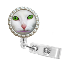 Cute Cat Face Retractable Reel ID Name Tag Badge Holder #1 - $10.00