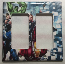 Captain America Iron Man Hulk marvel avengers Switch Wall Cover Plate Home decor image 4