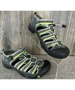 KEEN Water Shoes Women's 5 Grey/Green Strappy Bungee Cord Hiking Trek - £15.86 GBP