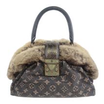 Louis Vuitton Limited Edition Chinchilla Denim Demi Lune Bag - $1,499.00