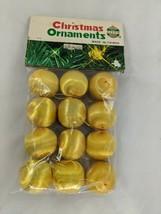 "Jayem Christmas Ornaments Gold String Balls 1"" Vintage - $9.95"