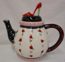 High-Heel Panache Ceramic Teapot - $10.99