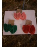 Macrame feather boho earrings,statement earrings,fringe earrings,Dangle ... - $10.89+