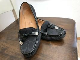 COACH Frida Loafers Black Signature Women Flats Driving Mocs Shoes - Size  6.5 - $34.64