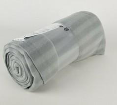 "Ikea Vitmossa Gray Fleece Throw Blanket 47"" x 63""  by Paulin Machado New... - $9.44"