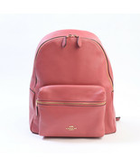 NWT COACH Charlie Backpack Cute Leather School Coral Pink Rouge Gold F29004 - $140.58
