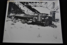 Vintage 1948 Police Photograph Wrecked Truck - Awesome! - $24.47