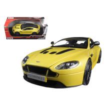 Aston Martin Vantage S V12 Yellow 1/24 Diecast Model Car by Motormax 79322y - $29.91