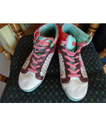 Pastry Fab Cookie High Top Sneakers Womens Leather Tennis Shoes 8.5 RA70405 - $14.99
