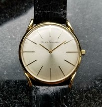 Girard-Perregaux Vintage 1970s Solid 18k Gold Swiss Mens Watch on Croc LV412 - $2,907.58