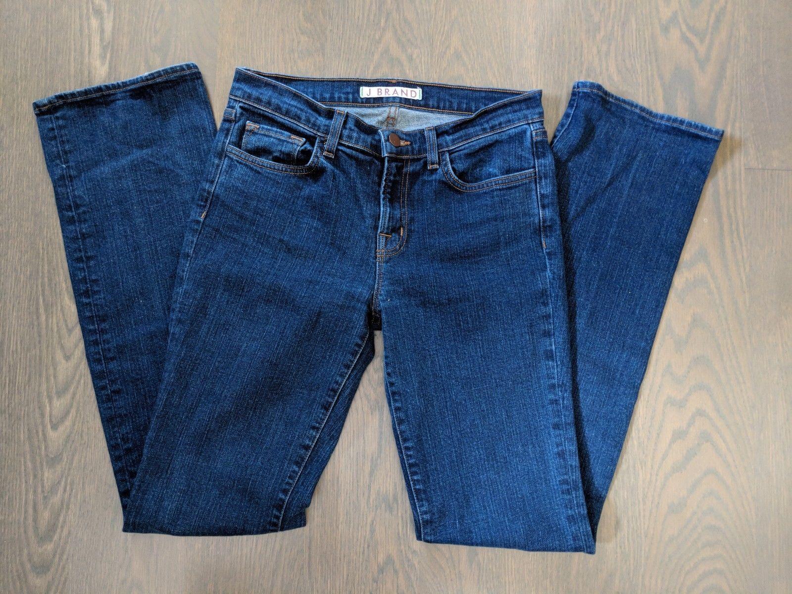 J Brand 28 Aruba Denim Skinny Slim Stretch Medium Wash Jeans Womens Pants