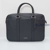 NWT Coach F59057 Mens Perry Slim Briefcase Crossbody Laptop Bag Leather ... - $215.01