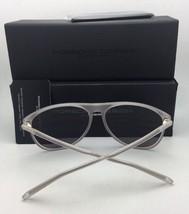 New PORSCHE DESIGN Sunglasses P'8594 B 62-12 Matte Frost Frame w/ Blue Mirror