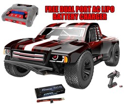 Team RedCat TR-SCE 1/10 Brushless SC Truck + 6000 Lipo Battery w/Free Ch... - $421.99