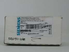 1PC New Siemens 3RH1921-1CA01 Auxiliary Switch Block 3RH19211CA01 - $9.46