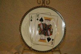 American Atelier Casino King Of Spades Salad Plate - $4.15