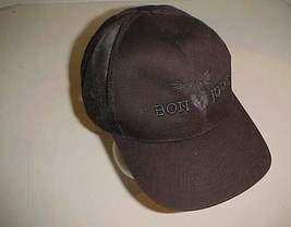 Bon Jovi Established 1983 Logo Adult Unisex Black Trucker Mesh Cap One Size - $24.74