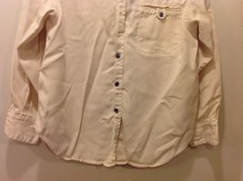 Pulp Long Sleeve Button Up Collared Sandy Colored Shirt Sz PL image 3
