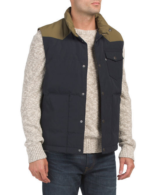 NEW Men's LUCKY BRAND Down Puffer Vest