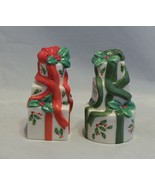 Lenox Holiday Pattern Stacked Presents Salt and Pepper Shakers - $15.84