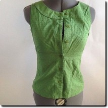 Ann Taylor Green Textured Petite Top Blouse 2 - €15,82 EUR