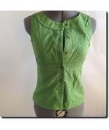 Ann Taylor Green Textured Petite Top Blouse 2 - $18.78