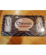 Car License Plate Frame Bell Black Rhinestone Chevron Die-cast Metal NEW... - $5.93
