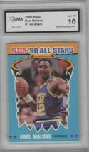 Karl Malone 1990 Fleer All Star #7 Utah Jazz GMA Graded GEM MT 10 - $9.89