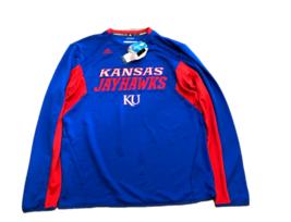 NWT Kansas Jayhawks adidas Climalite Sideline Medium Crew Sweatshirt Shirt - $39.55