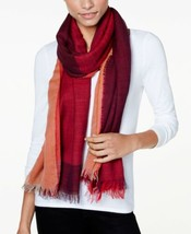 Echo Tri-Panel Colorblocked Wrap & Scarf in (Wine, One Size) - $37.24