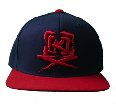 Kr3w krew Skateboarding Navy Blue Red Mark Starter Snapback Baseball Hat Cap NWT
