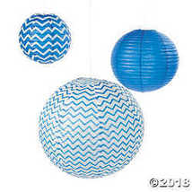 Blue Chevron Lanterns  - $7.46
