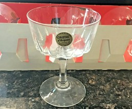 Set 6 CRISTAL d'ARQUES VERSAILLES Champagne Coupe / Sherbert Lead Crysta... - $39.95
