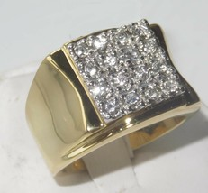 Round Cut Mens Diamond Wedding Band Engagement Pinky Ring 14K Yellow Gol... - $134.56