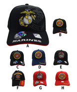 """""""US MARINES"""" Official Licensed Shield Black,Red,Navy Blue Military Caps - $11.99"""