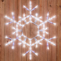 LED Cool White Lighted Christmas Snowflake Twinkle Display Outdoor Decor... - $69.99
