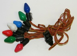 Vintage C-7 Christmas Lights #4 - Cloth Strand - $12.00