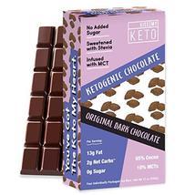 Kiss My Keto Low Carb Keto Dark Chocolate Keto Snack, (4x 3 oz Bars per ... - $24.99