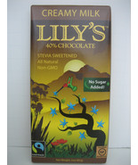 6 Lily's LILYS Stevia MILK Chocolate Bar, 40% Cocoa, 3 oz - $34.99