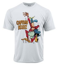 Captain Klutz Dri Fit graphic Tshirt moisture wicking superhero comic Sun Shirt image 2