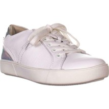 naturalizer Morrison Low Rise Fashion Sneakers, White Silver, 8.5 W US - $31.67