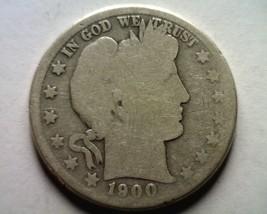 1900-S Barber Half Dollar About Good Ag Nice Original Coin Bobs Coins Fast Ship - $20.00