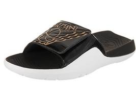 90e2d70c5fe3 Jordans Men  39 s Hydro 7 Slide Sandals Black Metallic Gold White 8
