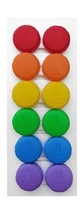 Contact Lens Cases 6-Pack Rainbow Colors by CleanEyes - $12.64