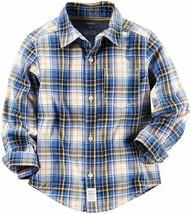 Carter's Plaid Button Down Shirt (Toddler/Kid) - Plaid - 5T - $24.30